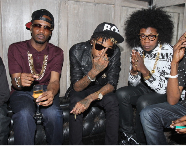 Juicy-J-Wiz-Khalifa-and-Trinidad-James-Hennessy-VMA-party