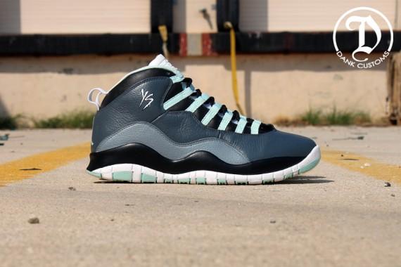 "Air Jordan X ""Green Glow"" by Dank Customs  e8e047c79e64"