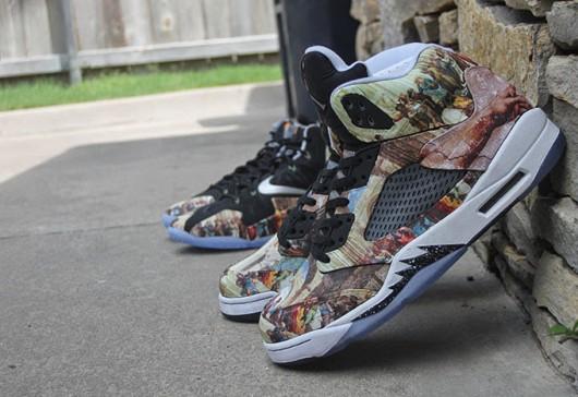"Air Jordan 5 & Nike LeBron 11 ""Renaissance"" Customs"